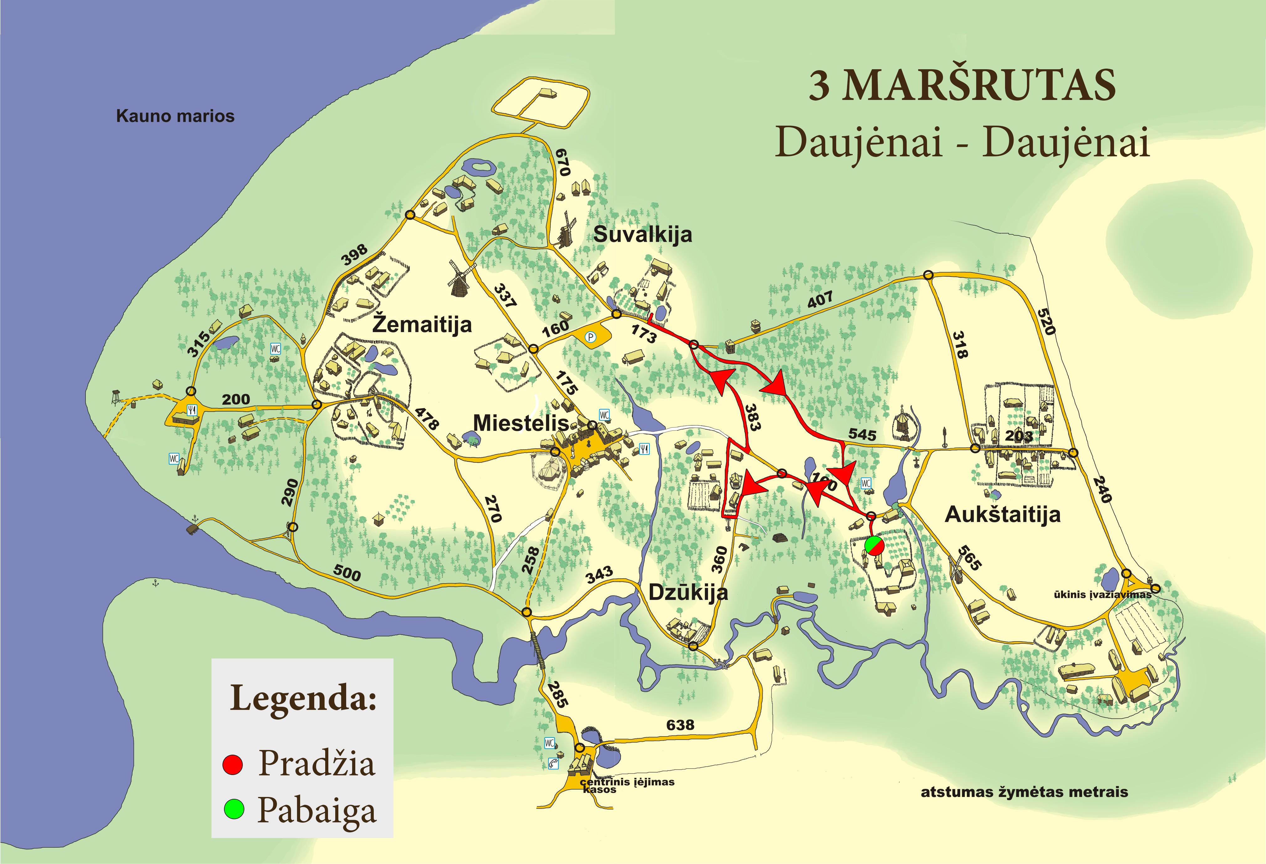 3 Maršrutas Daujėnai – Daujėnai