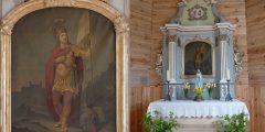 """""""LLBM bažnyčios Švč. M. Marijos ir Šv. Jurgio altorių retabulų restauravimas 2015 – 2017 m."""" I etapas"""