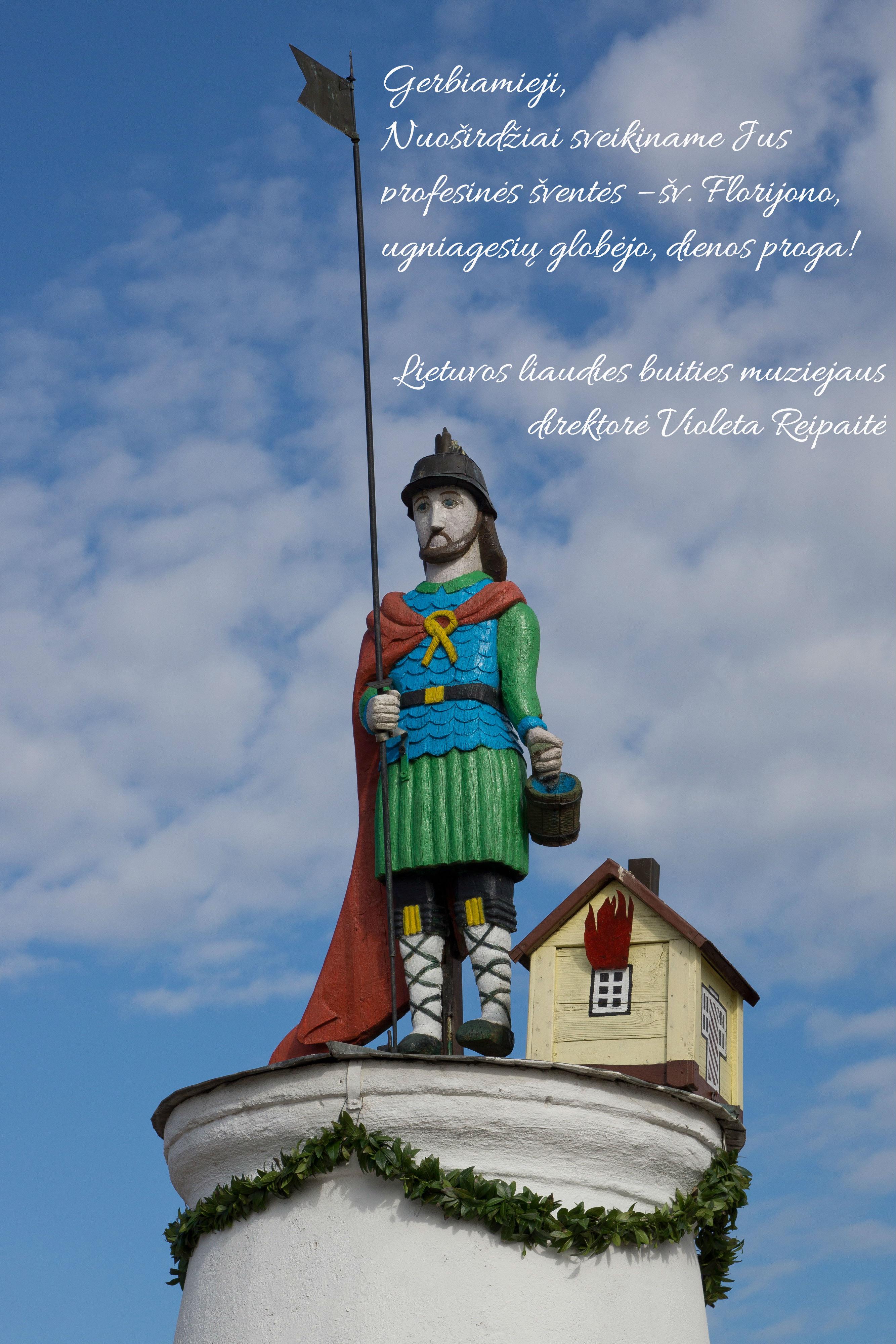 Lietuvos liaudies buities muziejaus miestelyje esantis šv. Florijonas – tai paminklo,  stovinčio Tryškių miestelyje (Telšių r.), kopija.