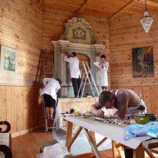 Kruopščiai jam patikėtas užduotis atliko jaunasis muziejaus restauratorius Lukas Paulauskas